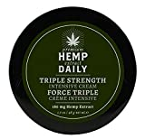PREMIUM HEMP CREAM: Keep your lifestyle carefree and lively with our Intensive Cream. Use as often as desired so nothing stands in your way. Great as hand cream or body cream NATURAL EFFECTS: Hemp Daily is safe and all organic. Feel the benefits ment...