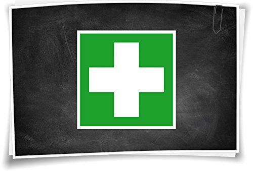 Medianlux Rettunszeichen E003 Erste Hilfe Aufkleber Piktogramm Rettungshinweis Schild, 5cm - 3 Stück