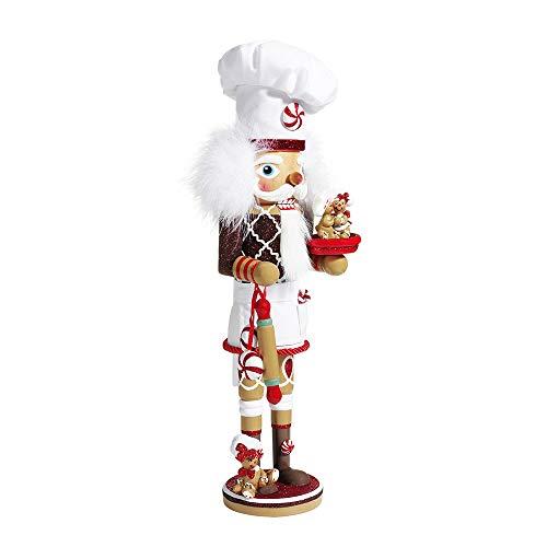 Kurt S. Adler Kurt Adler 15.5-Inch Hollywood Gingerbread Chef Nutcracker Nussknacker, Mehrfarbig, 16 inch
