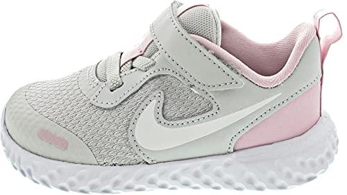 Nike Jungen Unisex Kinder Revolution 5 Gymnastikschuh, Photon Dust White Pink Foam, 25 EU