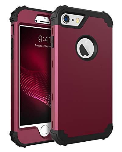 BENTOBEN Funda iPhone 6 Silicona, Funda iPhone 6s, 3 en 1 Carcasa Combinada PC Dura y Suave TPU Silicona Fuerte Resistente PC Bumper Antigolpes Cubierta Protectora Fundas para iPhone 6/6s (4.7'')