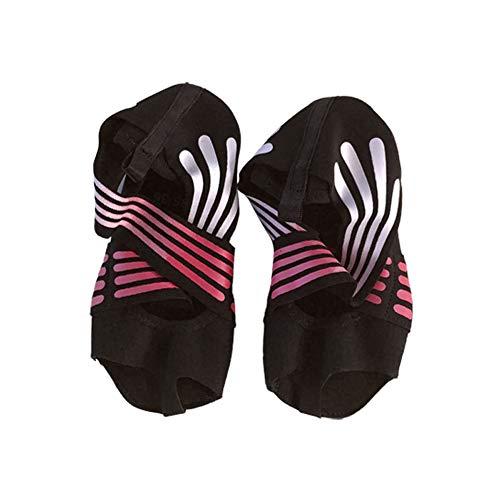geshiglobal Zapatos de yoga de interior profesionales antideslizantes de danza de pilates calcetines para mujeres rosa M