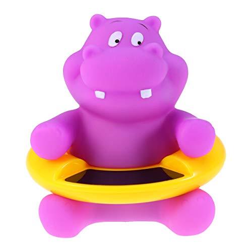 Yardwe Termómetro de baño Bebe Termómetro de Temperatura del Agua para bebés termometro Agua Bebe (Hipopótamo)