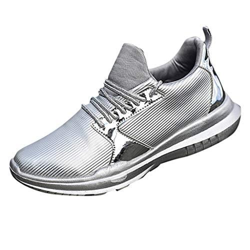 Sillor Sneaker Damen Leichte Bequeme Flach Sportschuhe Laufschuhe mit Luftpolster rutschfest Turnschuhe Profilsohle Freizeit Schuhe