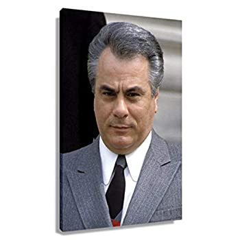 John Gotti Mafia Gangster Poster Kitchen Prints Decor Art for Living Room Modern Bedroom Decorations Giclee Printing Canvas for Wall Picture Gifts Printed Canvas Hallway Pics Artwork for Bathroom  12*18inch,Unframed