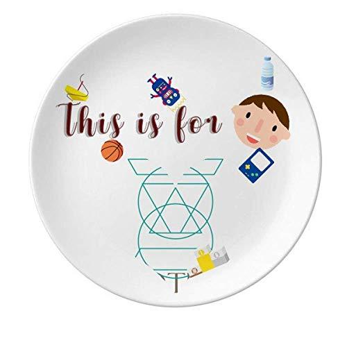 Trapezoidal combinado circular triangular porcelana plato redondo niño hombre