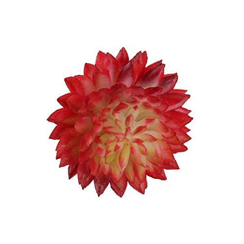 Tommy Lambert, 10 Stück künstliche Pflanzen, Meteor, gefälschte Simulation kleine Sukkulenten Topfpflanzen DIY Craft Party Hochzeit Home Dekoration simuliert Blumen Ornament rot