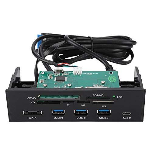 Diyeeni Lector de Tarjetas Interno 5.25 pulg. Interfaz USB 3.0 Frontal de Alta Velocidad Panel de Control Interno Multifuncional del Tablero de Instrumentos Panel Frontal de la PC