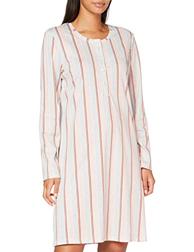 Seidensticker Damen Women Sleepshirt, Long Sleeve Nachthemd, hellblau, 040