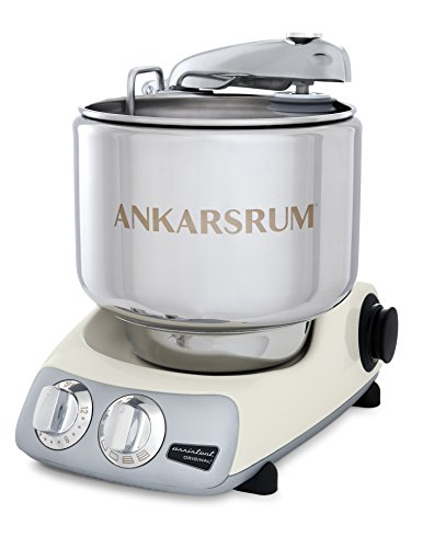 Ankarsrum Original 6230 Light Creme and Stainless Steel 7 Liter Stand Mixer
