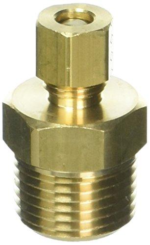 Brasscraft 68-4-8X 1/4 OD by 1/2-Inch Male Reducing Adapter Lead-Free, Rough Brass