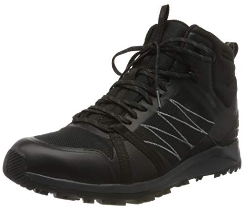 The North Face Mens Litewave Fastpack II Mid WP, Zapato para Caminar Hombre, TNF Black, 43 EU