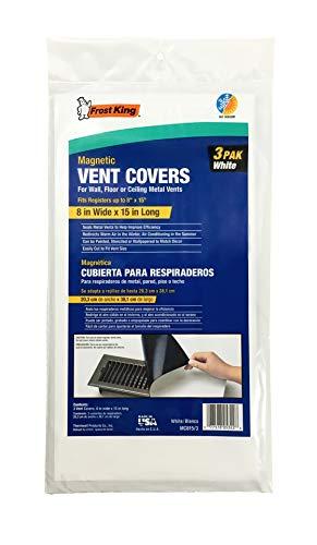 Frost King Magnetic Vent Covers, 8'x15' 3-Pack, White