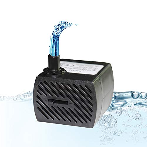 Homvik Mini Bomba de Agua Sumergible 350L/H 5W Bomba Agua Ul