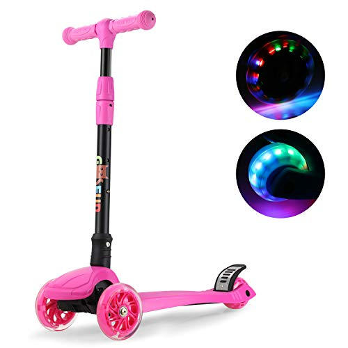 GOSFUN Patinete 3 Ruedas con LED Luces,Diseño Scooter