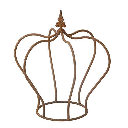 ecosoul Couronne métallique ouverte pour décoration de jardin - En métal - À poser - Pour décoration de jardin