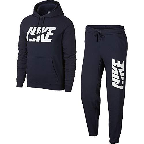 Nike M NSW TRK Suit FLC Gx Trainingsanzug für Herren L Blau (Obsidian)
