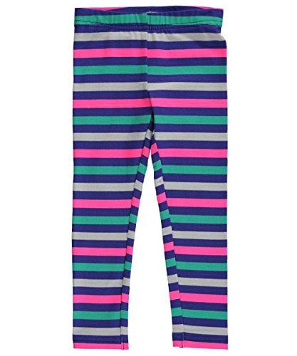 """Carter's Little Girls' Toddler """"Cheery Stripes"""" Leggings Navy/Multi"""