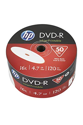 HP Dvd-R IJ Print 16X 50PK Bulk 4.7GB