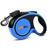 Petacc Retractable Dog Lead, Anti-bite Heavy Retractable Dog Leash 360° Tangle Free,Reflective 5m