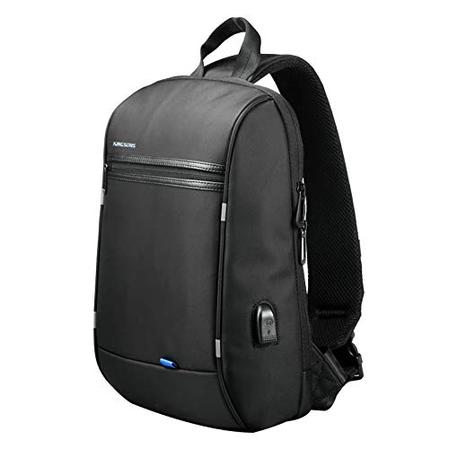 KINGSONS Anti Theft one Strap Backpack for Men Travel Business Waterproof Sling Bag 13 inch Laptop Backpack with USB Charging Port