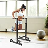 Dporticus Multi-Function Dip Station Home Gym Dip Stand Dip Bar,Adjustable Height Body Exercise Equipment Strength Training