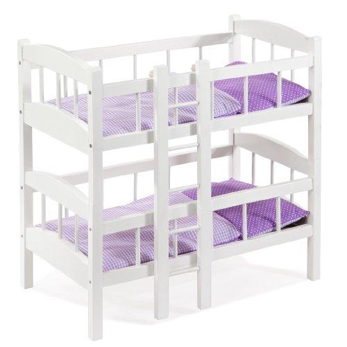 Howa Puppenbett Etagenbett teilbar aus Holz weiß 24301