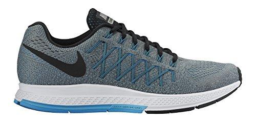 Nike Air Zoom Pegasus 32, Scarpe da Corsa Uomo Multicolore Gris/Negro/Azul (Cool Grey/Black-Blue Lagoon) 39