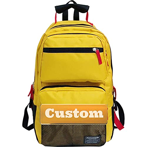 Mzhizhi personalizzato nome escursionismo zaino ultraleggero scuola borsa per uomini College 20l escursionismo (colore : giallo, taglia unica)