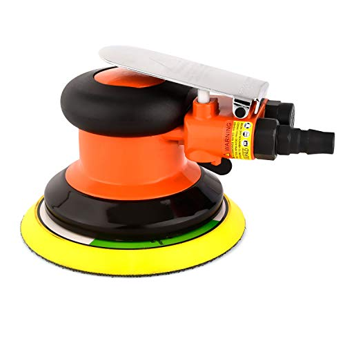 "ZHONG AN 5"" Pneumatic Random Orbit Sander Air Tool Air Powered,Palm Sander,Air Sander for Auto body Automotive,Wood Working"