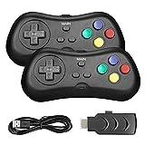 LINGSFIRE Mini Consola de Juegos Retro con 2 Controladores inalámbricos, Salida de TV HDMI 1080P Videoconsola clásica de Juegos incorporada 638 Juegos para Jugadores duales, niños, niñas