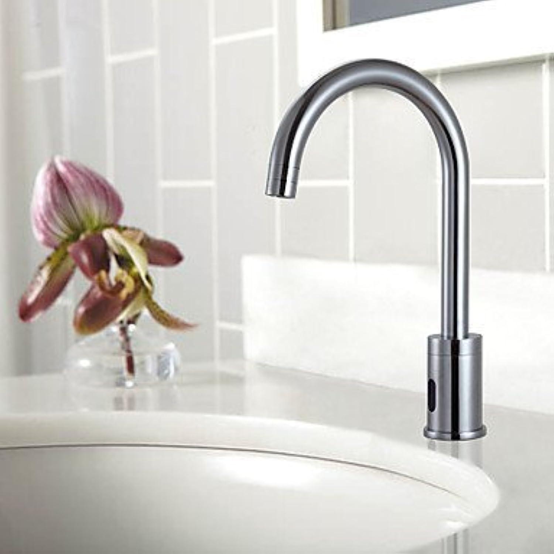 SEBAS Home Becken Hahn Messing Sensor Chrom Finish Waschbecken Wasserhahn Bad Wasserhahn Becken Mischbatterie