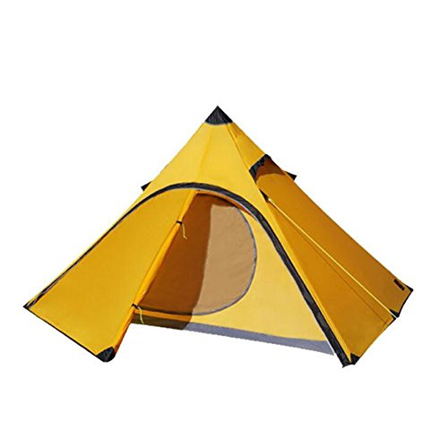 Gaojuan Pyramid Tent One Account Ultralight 20D Nylon Silicone Tent Outdoor Double Four Seasons Tent Lightweight Tent for Camping Hiking Climbing (Color : A)