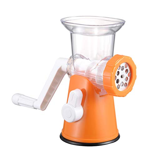 Manual Meat Grinder, Kitchen Multi-Function Stuffing Machine Hand-Crank Enema Machine Small Food Processor Baby Food Supplement Fruits Nuts Meat and Vegetables