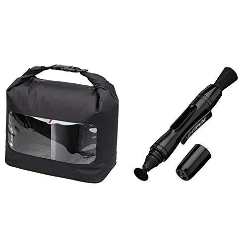【セット買い】HAKUBA 防湿カメラケース ドライソフトボックス L ブラック KDSB-LBK & HAKUBA メンテナンス用品 レンズペン3 【レンズ用】 ブラック KMC-LP12B
