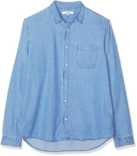 find. Camisa Vaquera Hombre, Azul (Light Wash), Small
