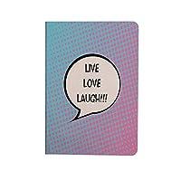 ライブ笑い愛の装飾 可愛い 2020新型 iPad Air4 10.9 ケース ポップアートコミックスタイルハーフトーンドット背景音声バルーンテキスト装飾 お洒落 薄型 軽量 おしゃれ 人気 手帳型ケ 多色
