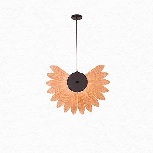 LSSB Kronleuchter im chinesischen Stil Kronleuchter Holzfurnier Lampe Esszimmer Schlafzimmer Living Room Hotel Teahouse Hotel Room Lighting Wood Art Kronleuchter for Haus, Villa, Bar, Restaurants