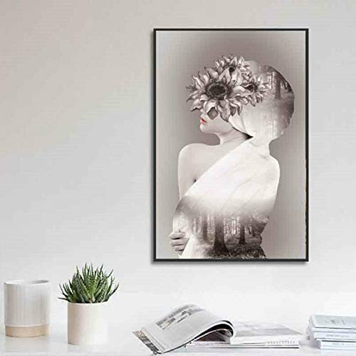 zgwxp77 Mode Frauen Leinwand Malerei Wandhauptdekoration Poster und Drucke