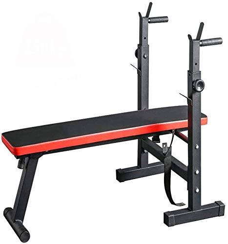 WOERD Banco Multifuncion Musculacion,Plegable Adjustable Casa Banco de Fitness,Entrenamiento Abdominal Banco Abdominales,Adecuado para Principiantes y Profesionales/Unisex Adulto