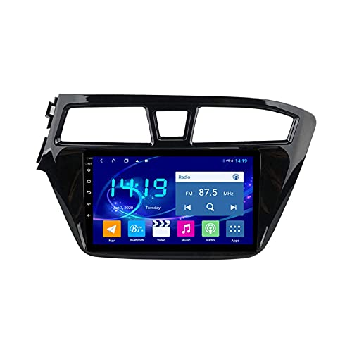 Coche Radio Video STEREO PARA HYUNDAI I20 2015-2018 Auto Multimedia Player SAT NAV FM AM Receptor 1080P HD Pantalla táctil Foreado GPS WIFI Bluetooth MirrorLink SWC USB,8 core 4g+wifi: 4+64gb