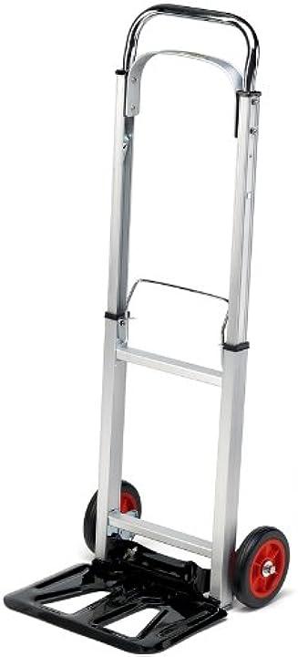 Carrello manuale per il trasporto, pieghevole, in alluminio pro bau tec 10411