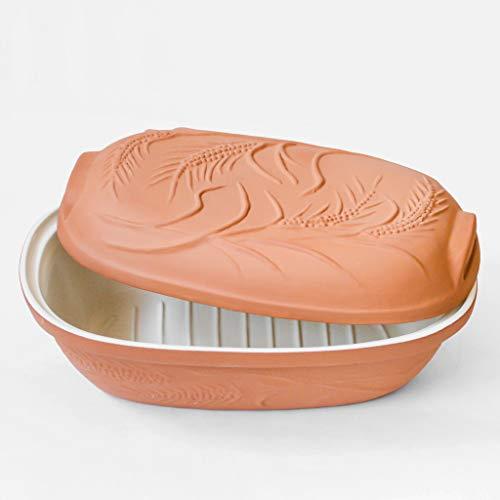 MS Steinzeug Brottopf Terrakotta TerraStone mit weißer Innenglasur