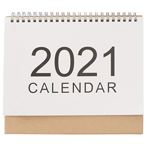 Calendario de escritorio 2021 de Amosfun Calendario mensual de escritorio para oficina y uso doméstico (tamaño mediano)