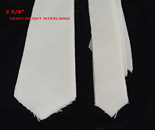 "10 PACK of PRE-CUT 100% wool HEAVY weight necktie interfacing / interlining - AC Ter Kuile, finest available, made in Netherlands (5 SIZES AVAILABLE) (2 5/8"")"