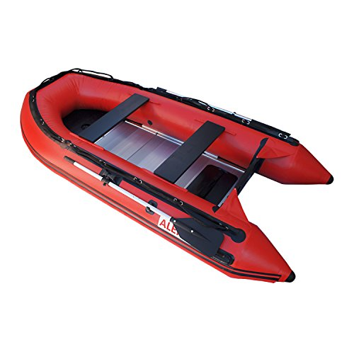 ALEKO BT320R 10.5 Foot Inflatable Boat with Aluminum Floor Heavy Duty Design 4 Person Raft Sport...