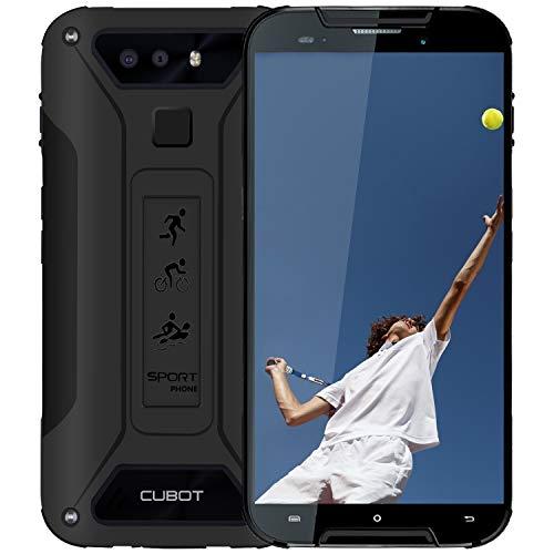 CUBOT Quest Lite Outdoor Smartphone, Robust, Wasserdicht, 3000 mAh Akku, 5 Zoll HD Display, 3GB RAM/32GB, Dual Kamera, Android 9.0, 4G Dual SIM, Schwarz