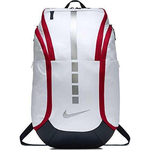 Nike Hoops Elite Hoops Pro Basketball Backpack White/Obsidian/Red
