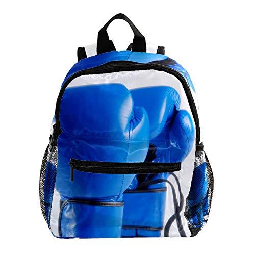 Blaue Boxhandschuhe Kinder Rucksack Leichte Schultasche Voller Druck Für Vorschulkind 3-8 Jahre Baby Tasche Windel Milchpulver Rucksack 25.4x10x30 cm