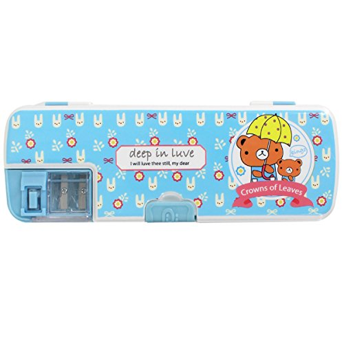 Aisa Colorful Cartoon Animals Pattern Pencil Case Multifunctional Pencil Box for Student Special Gifts for Children/Kids